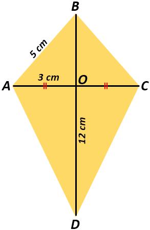 Cara Mencari Luas Layang Layang Area Of A Kite Jika Diketahui Panjang Diagonal Lain Dan Panjang Salah Satu Sisinya Mamatematika